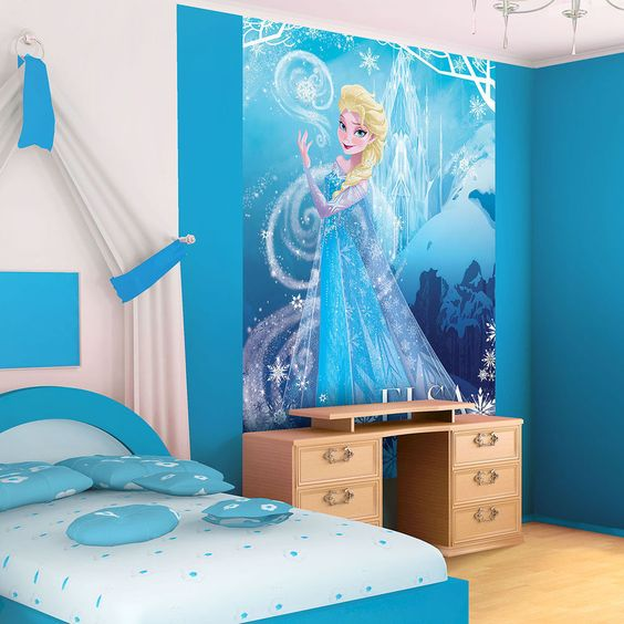 Disney frozen elsa portrait photo wallpaper wall mural cn for Cn mural designs