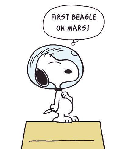Image result for snoopy the dog mars