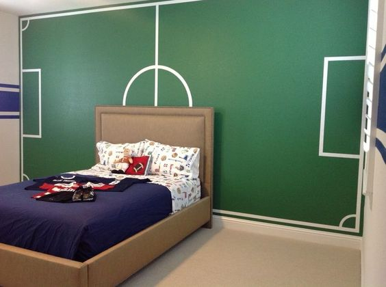 Famous Soccer Sport Teens Boy Bedroom Design Ideas -- never would think to make the ceiling to be a soccer field! Description from pinterest.com. I searched for this on bing.com/images