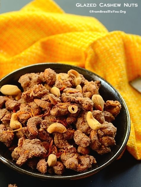 Quick, Aromatic, Sinful GLAZED CASHEW NUTS (Castanha de Caju Glaceada) that can be served with beer, soda, or any other drink of your choice.