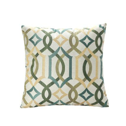 Throw Pillow Covers 18x18 : SimpleDecor Jacquard Geometric Links Accent Decorative Throw Pillow Covers Cushion Case ...