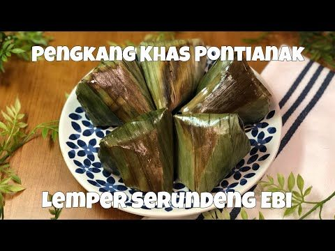 Resep Pengkang Khas Pontianak Lemper Serundeng Ebi Glutinous Rice With Shredded Coconut Youtube In 2020