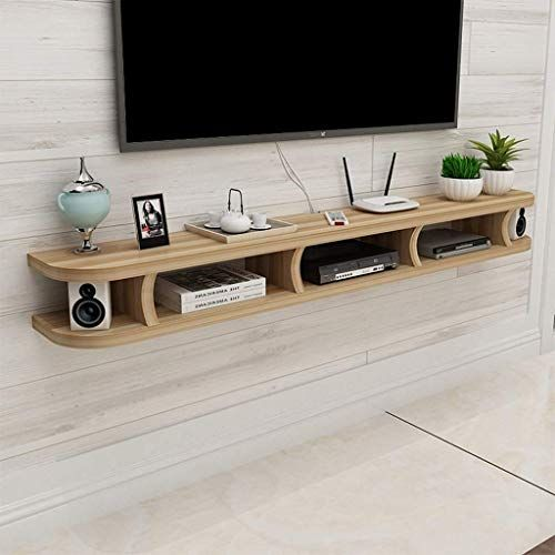 New Floating Shelf Bedroom Living Room Wall Shelf Wall Mounted Tv Cabinet Wifi Router Set Top Box Dvd Player Small Speaker Projector Shelf Tv Console Color C In