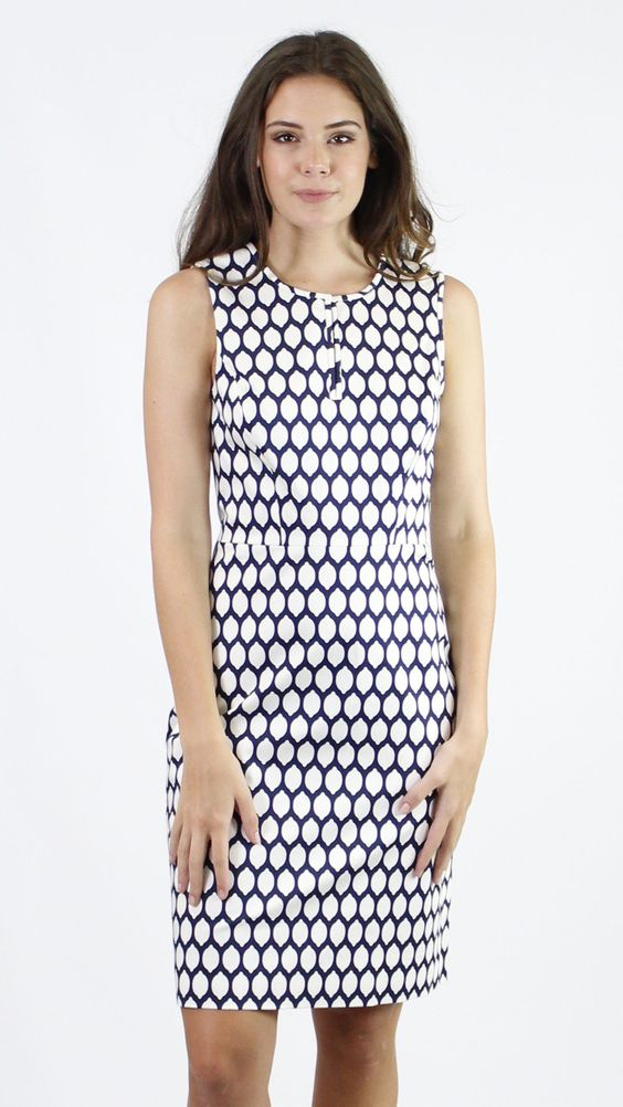 Kate Spade Emrick Geometric Lemon Print Dress