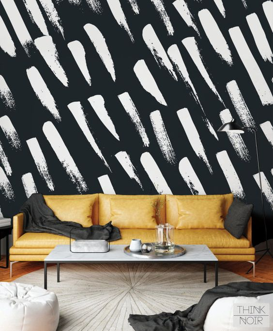 15 % OFF Brush Stroke Modern Mural Removable or by ThinkNoirMural