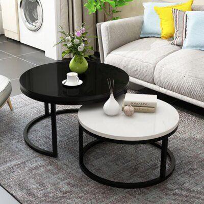 Orren Ellis Ila 2 Piece Coffee Table Set Wayfair In 2020 Coffee Table Nesting Coffee Tables Coffee Table Desk