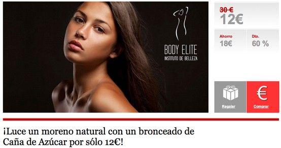 ¡Luce un moreno natural con un bronceado de Caña de Azúcar por sólo 12€! en Almeria
