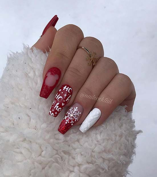 71 Christmas Nail Art Designs Ideas For 2019 In 2020 Red Christmas Nails Nail Colors Winter Festival Nails