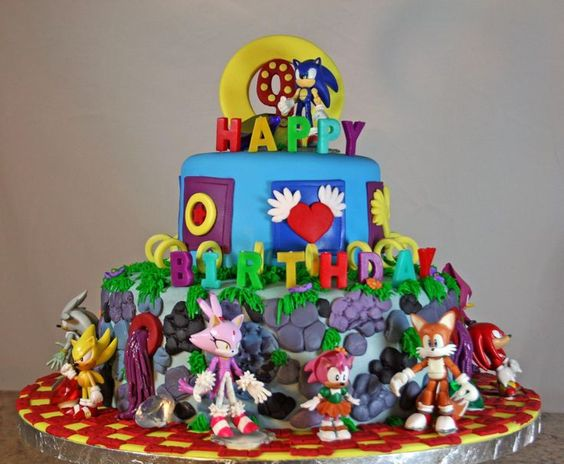 Sonic the Hedgehog birthday cake | Waldie Cakes | Pinterest ...