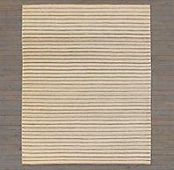 Pinstripe Flatweave Rug - Ivory/Grey