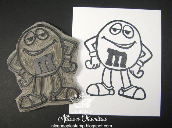 M&M carved by Allison Okamitsu