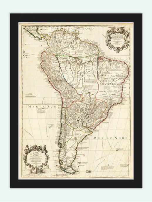 Pinterest the worlds catalog of ideas old map south america brasil venezuela peru argentina chile geografico de america meridionalis is a reprodution of an highly detailed map sciox Choice Image