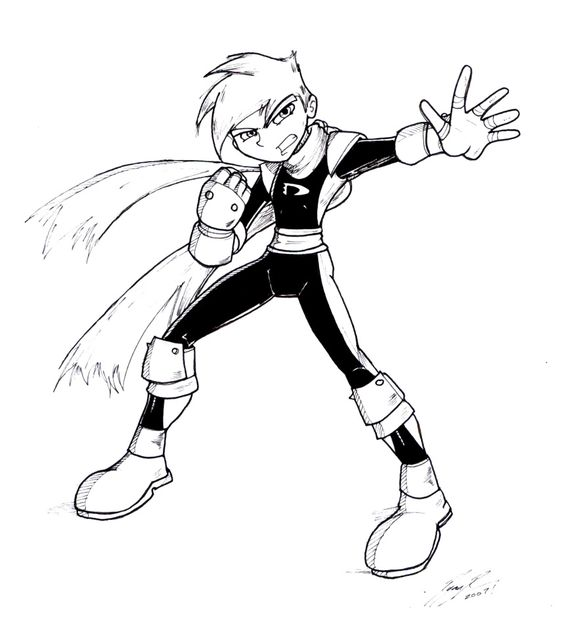 Danny Phantom Color Page Coloring Pages For Kids Cartoon 2 Danny Phantom Coloring Pages