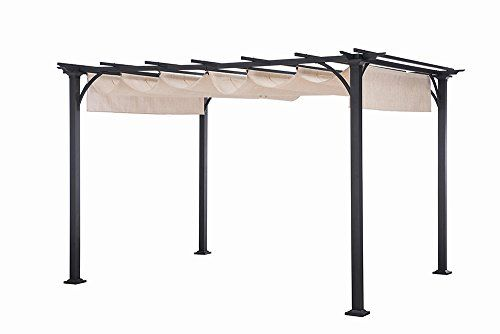 10 Ideas To Steal From Picture Perfect Patios Steel Pergola Pergola Plans Roofs Pergola Canopy