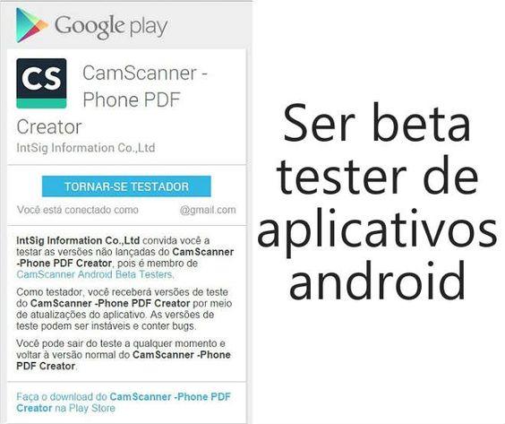 Testar aplicativos BETA, recursos novos