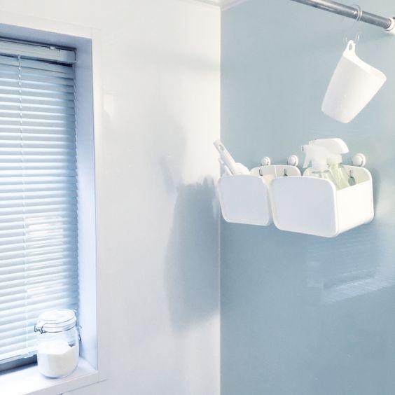 衛生的で機能性も抜群 すぐ真似できる 浴室掃除道具収納アイディア4
