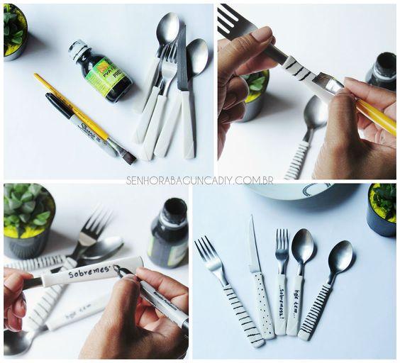 DIY - Talheres Personalizados - Senhora Bagunça DIY