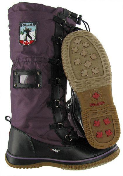 Black/Purple Pajar Grip Women&39s Snow Boots Waterproof Outdoor
