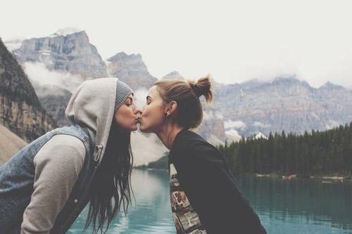 Image via We Heart It https://weheartit.com/entry/132491918/via/8551704 #kiss #lez #lgbtq #love #lesbo #lgbt #loveislove
