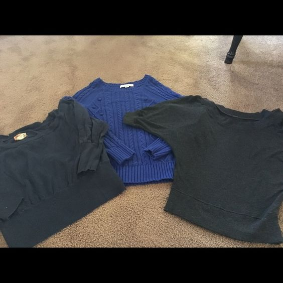 Lot of cute sweaters Like new size large sweaters.  Forever xx1. Poof and mudd brands adorable with jeans or skirts Sweaters