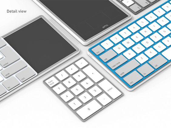 El arte de acodar un teclado. layer5