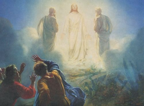 The Transfiguration of Our Lord.  A Manifestation of God's Glory that gave the Apostles Peter, James and John not only a Glimpse of Our Lord Jesus Christ's Divine Beauty, but also the Strength they were to Need for all the Trials to come.