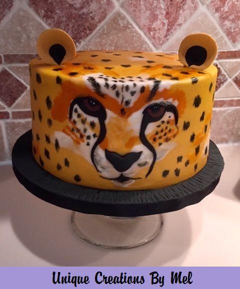 Miraculous Hand Painted Buttercream Cheetah Birthday Cakes Cheetah Funny Birthday Cards Online Benoljebrpdamsfinfo