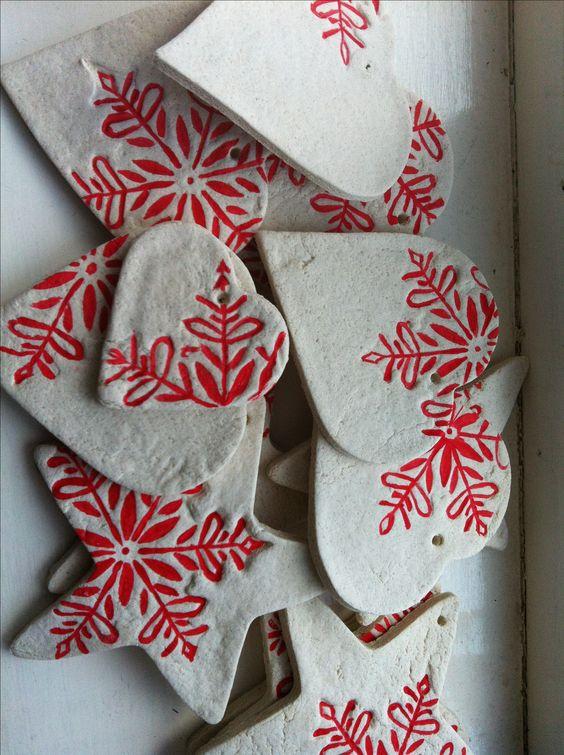 Salt dough Christmas decs - need a red pen