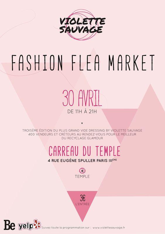 La troisième édition du plus grand #vide #dressing - Fashion Flea Market XXXXL au Carreau du Temple.