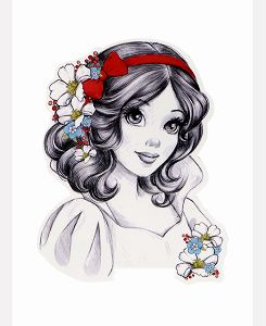 Snow white pencil drawing.so cute♥♥♥