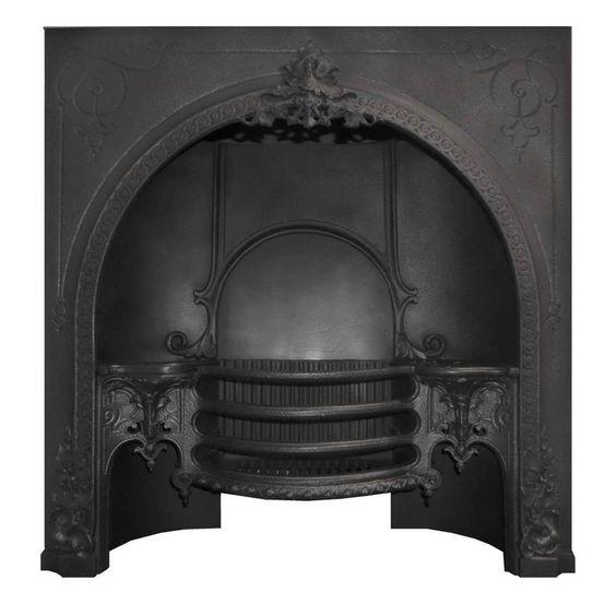Antique Georgian Cast Iron Fireplace Insert | Pinterest | Gardens ...