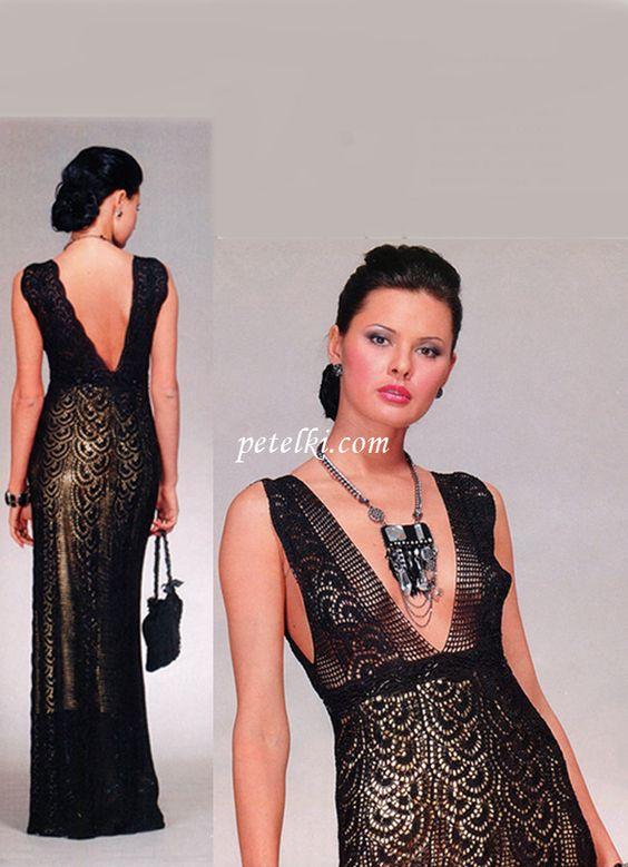 Long dress made of lace ribbon: Crochet Ideas, Fashion, Crochet Dresses, Crocheted Clothes, Adult Dresses Skirts, Ribbon Diagram