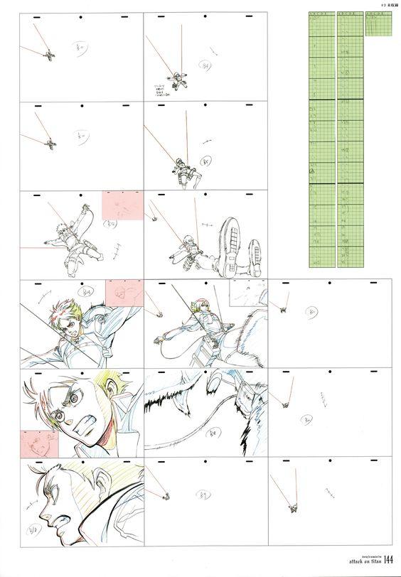 Attack On Titan Genga Animation  Genga  Layouts