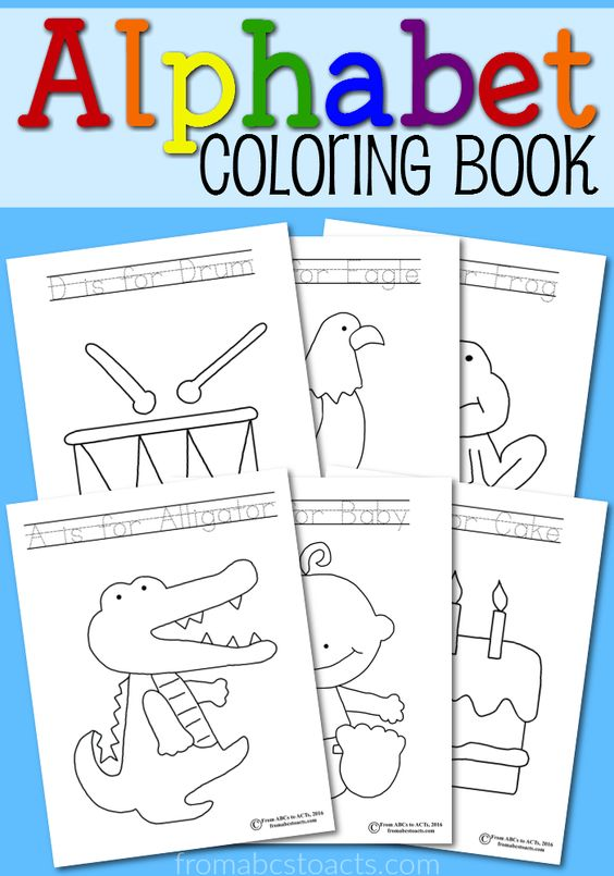 eating the alphabet coloring pages - photo#24