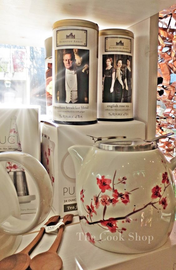 calling all Downton Abbey fans... The Cook Shop carries your tea! ;)