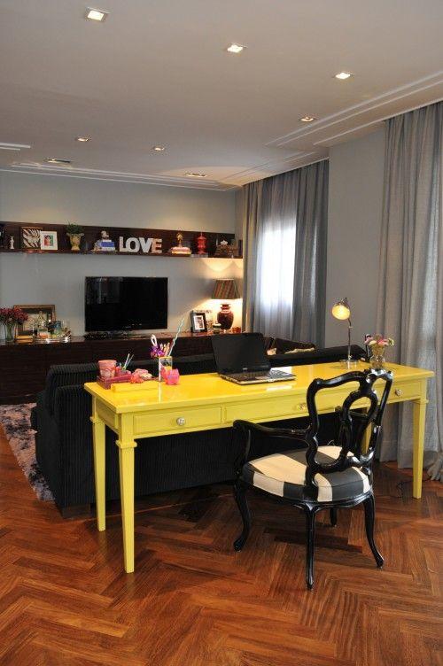 Sala De Estar Em Amarelo ~ Sala de Estar  Dècor {Ambientes integrados}  Pinterest  Madeira