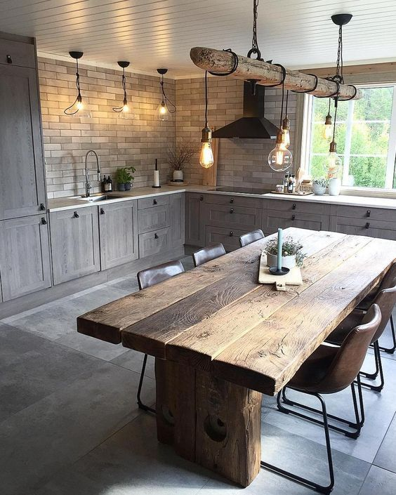9 Amazing Farmhouse Tables That Will Make Your Kitchen Space Truly Chic Daily Dream Decor Interior Design Kitchen Rustic Interior Design Kitchen Small Farmhouse Kitchen Design #valerio #canez #living #room