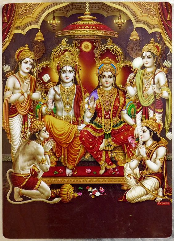 A Beautiful picture of Shree Ram with Hanuman Ji