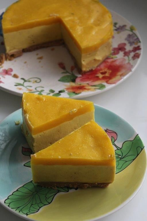 No Bake Mango Cheesecake Recipe Yummy Tummy Recipe In 2020 Cheesecake Recipes Mango Cheesecake Blueberry Cheesecake Recipe