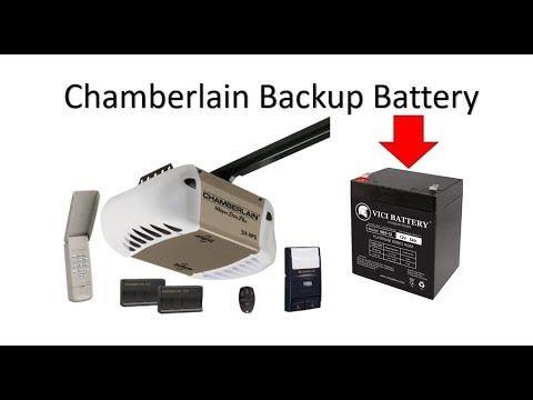 How To Change The Backup Battery On Your Chamberlain Garage Door Opener Youtube In 2020 Chamberlain Garage Door Chamberlain Garage Door Opener Garage Door Opener