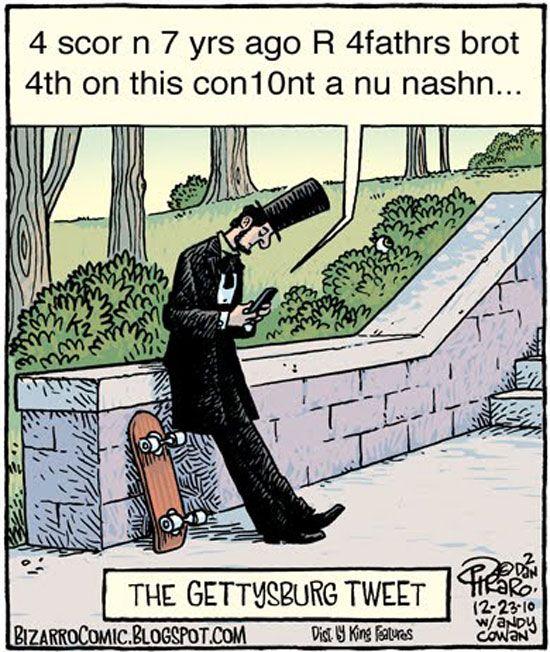 The #Gettysburg Tweet. #SocialMediaFun