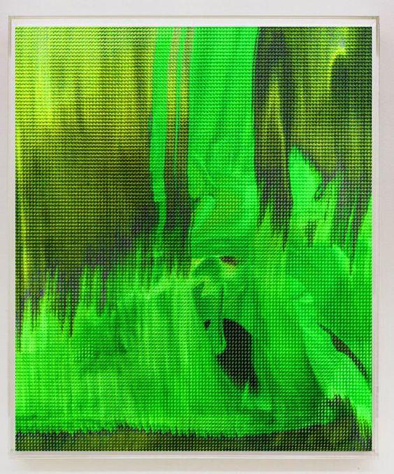 Seine Kunst entsteht im Computer und in der Druckerei – doch am Anfang trägt der in Berlin lebende Maler immer noch per Hand Acrylfarbe auf: Henry Kleine...