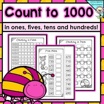 Number Names Worksheets skip counting by tens worksheets : Count, Skip counting and 1000 in on Pinterest