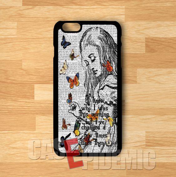 Alice in Wonderland  Quote - zDD for iPhone 4/4S/5/5S/5C/6/6+,Samsung S3/S4/S5/S6 Regular,Samsung Note 3/4