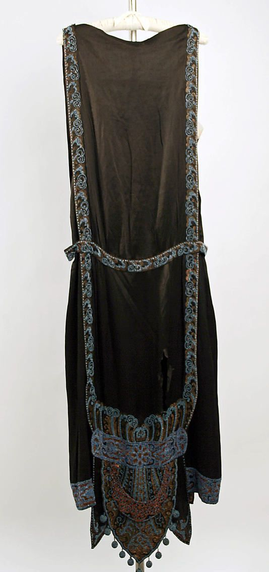 Dress, Evening.  Callot Soeurs  (French, active 1895–1937).  Date: 1924–25. Culture: French. Medium: silk.