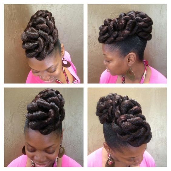 Styles Braided Transitioning Hairstyles Natural Hairstyles Protective Braids Natural Hair Styles Natural Hair Updo Braids For Black Hair