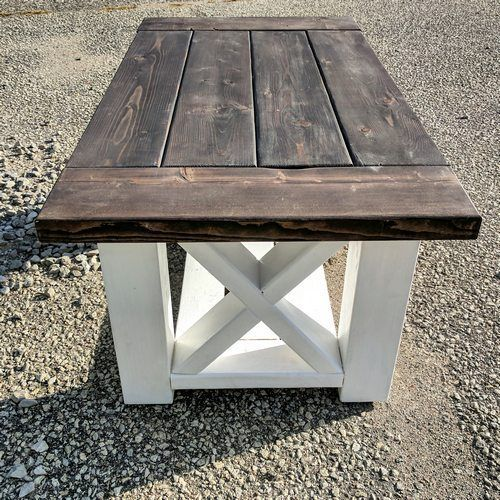 A Solid Farmhouse Style Coffee Table To Brighten Up Any Living