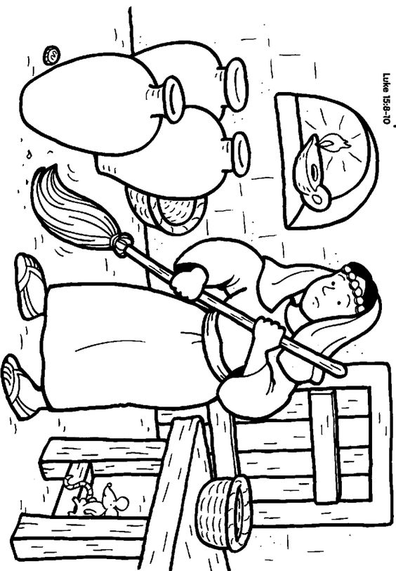 Lost Coin The Coloring Pages Bible Stories