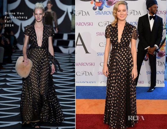 Brie Larson In Diane Von Furstenberg - 2014 CFDA Fashion Awards - Red Carpet Fashion Awards
