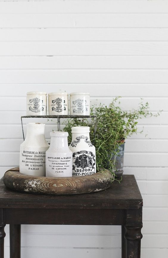 Large French Grey Poupon Mustard Jar with gorgeous double-sided detailed graphics that are a true work of ...